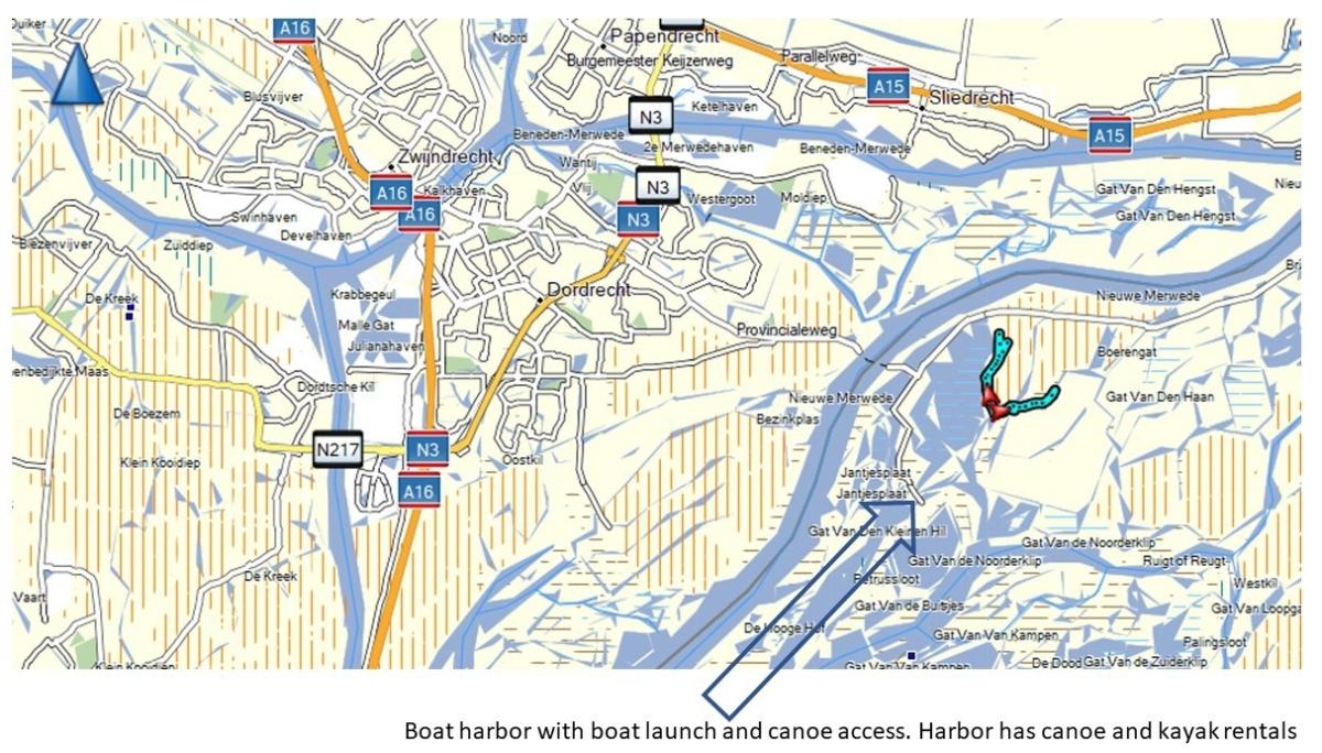 Biesbosch harbor map