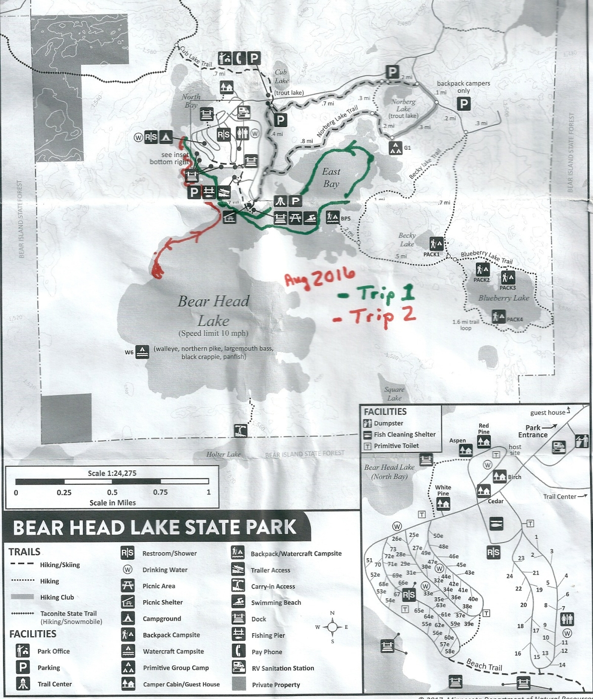 BearHeadLake State Park map0001