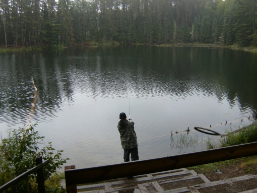 fishing at Norberg Lake