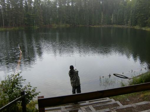 fishing at Norberg Lake