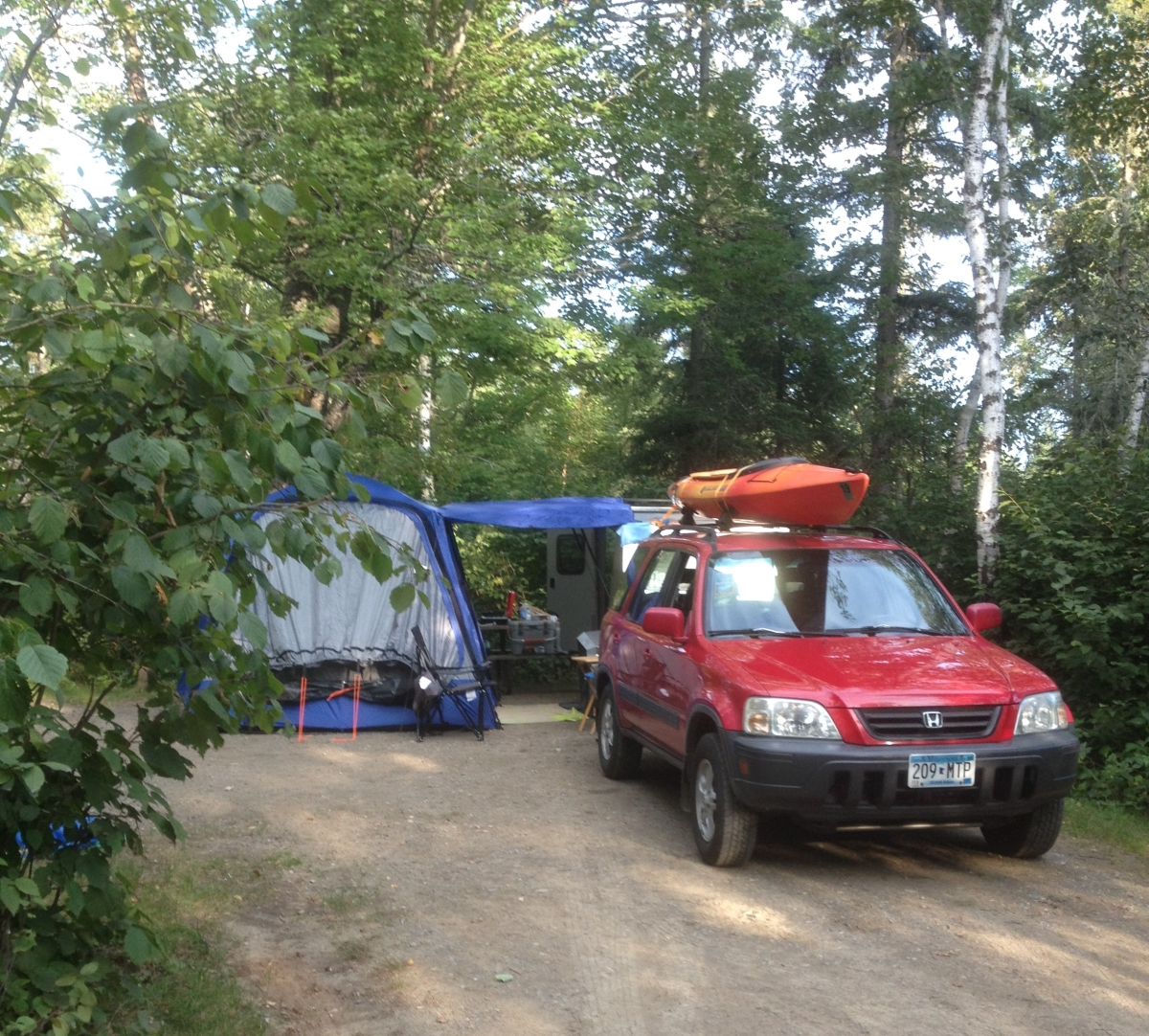 Our set up at Bear Head Lake