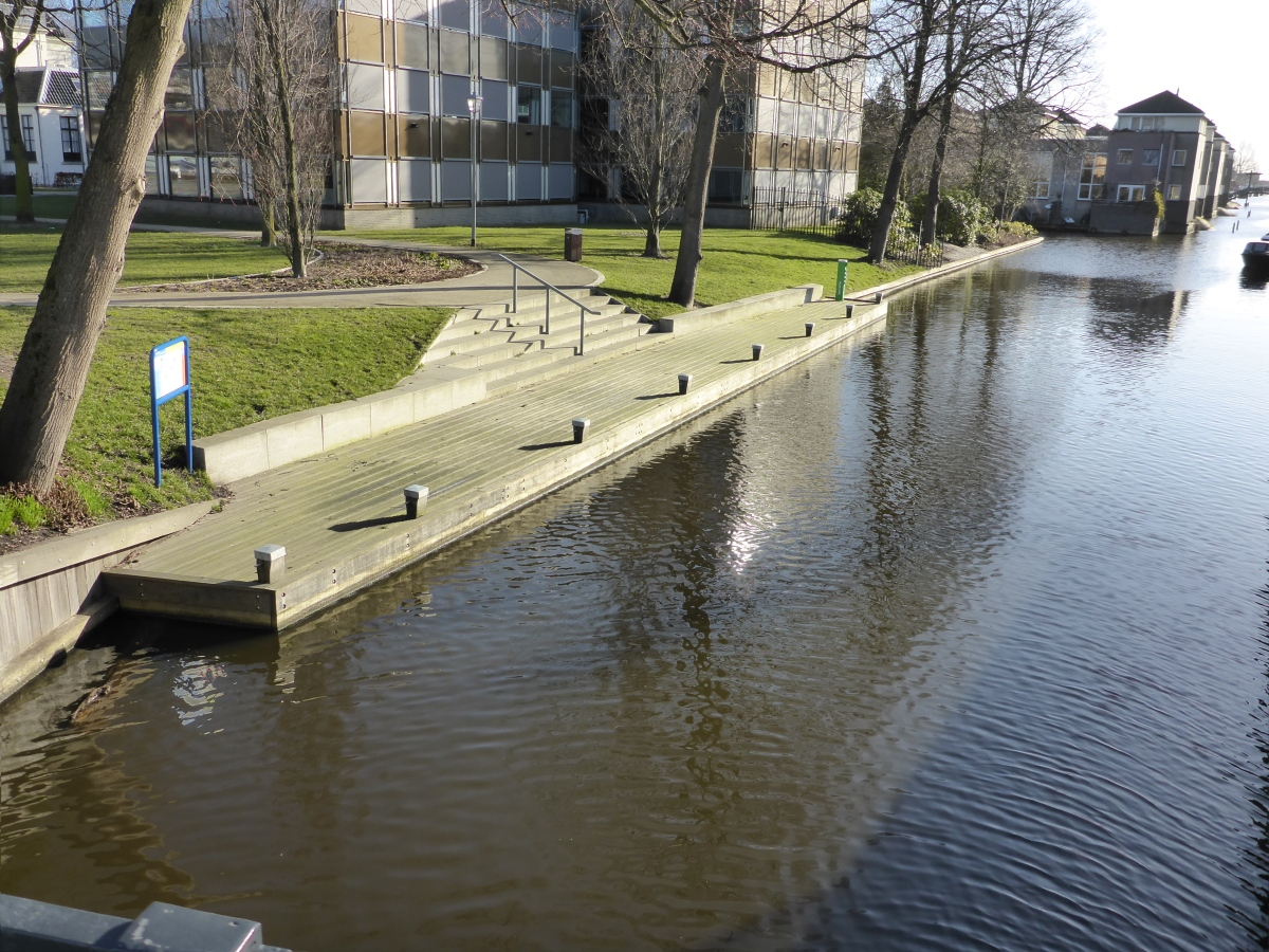 Boat dock in Hillegom