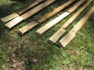 Cedar log matching on Cow Palace siding