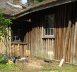repaired logs back in place on the Cow Palace