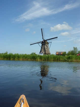 Windmill in the distance, Kinderdijk