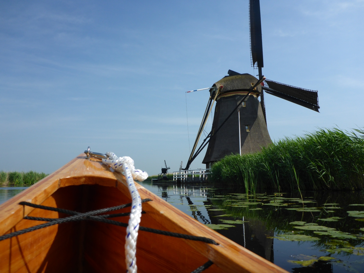 passing our first windmill on De Vliet