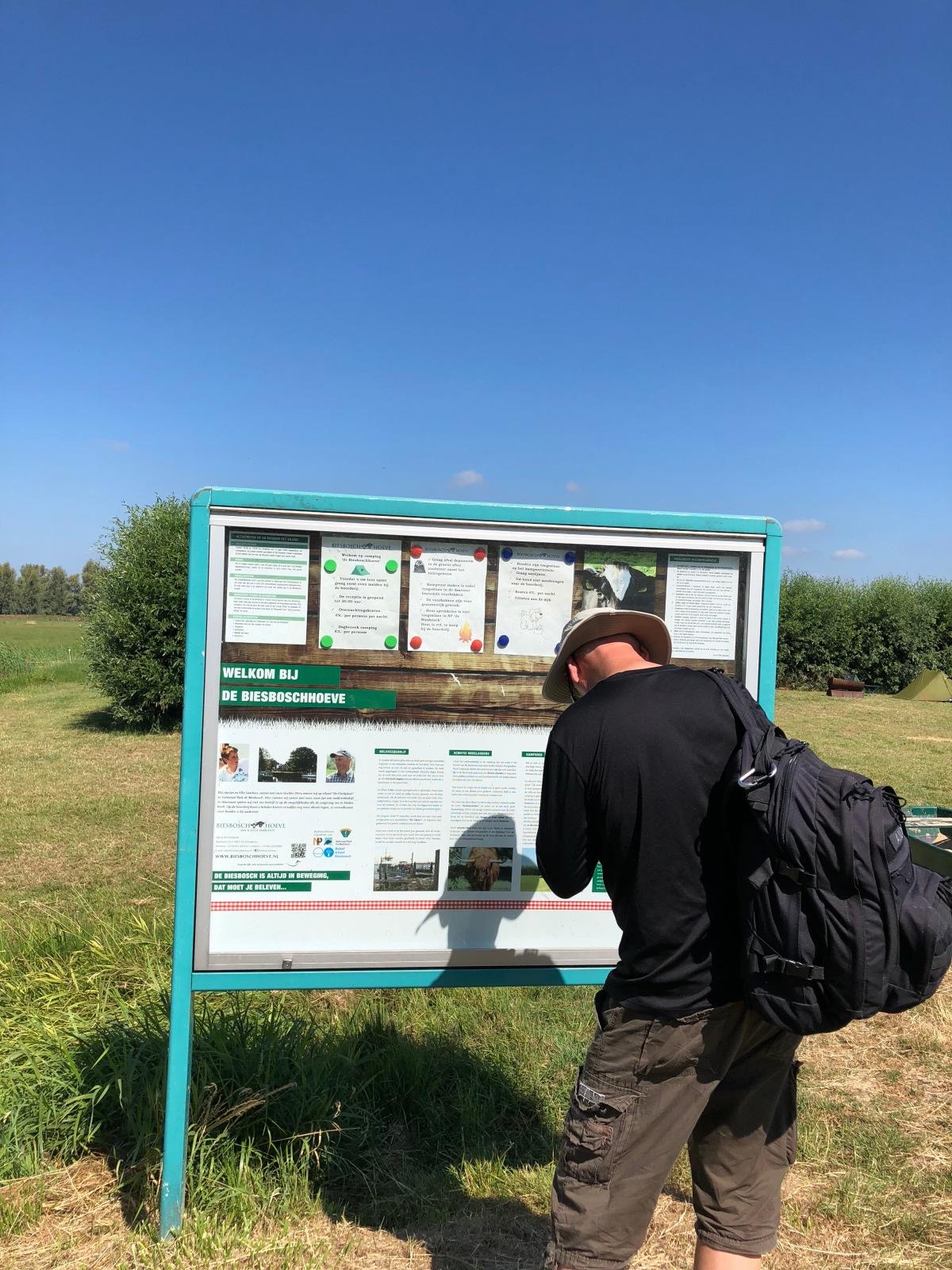 Information board for the Biesbosch Hoeve