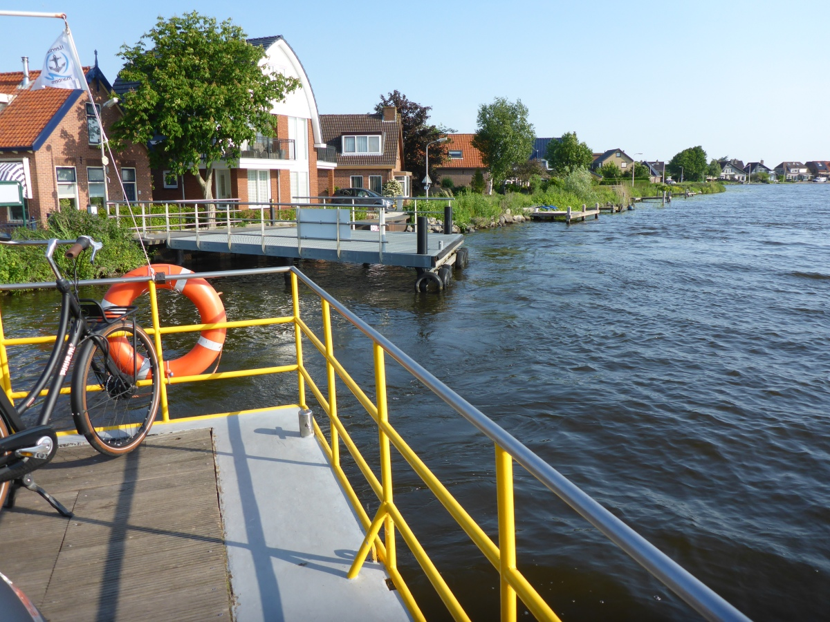 Bike Ferry at Bike Point 32 Crossing the Paddegat