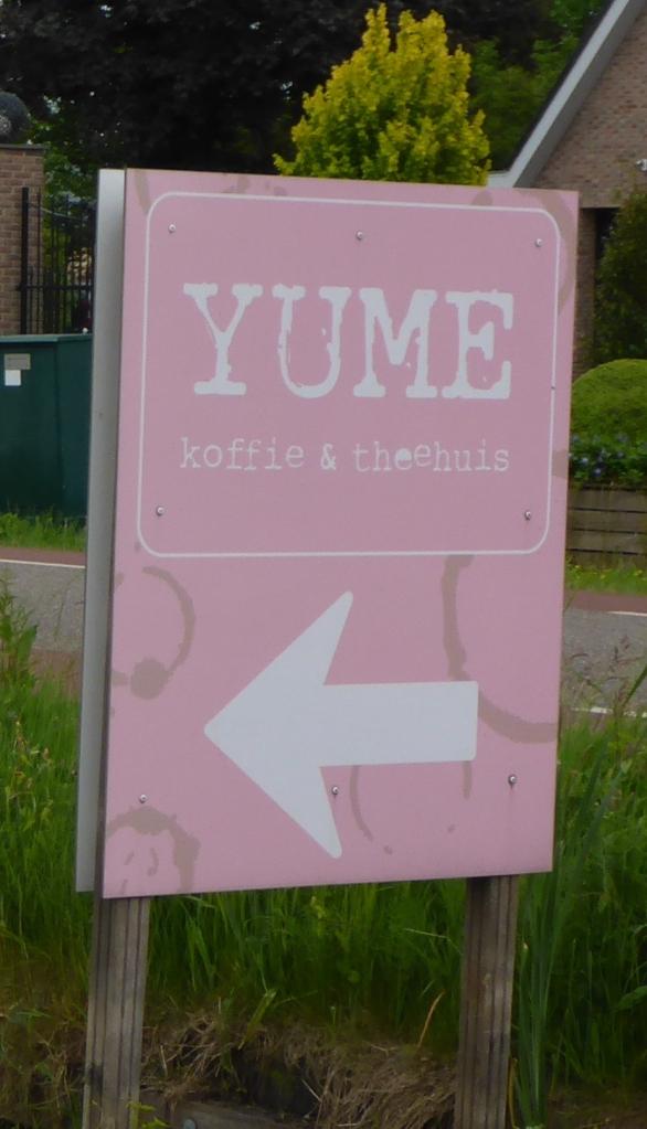 YUME coffee sign in Boskoop