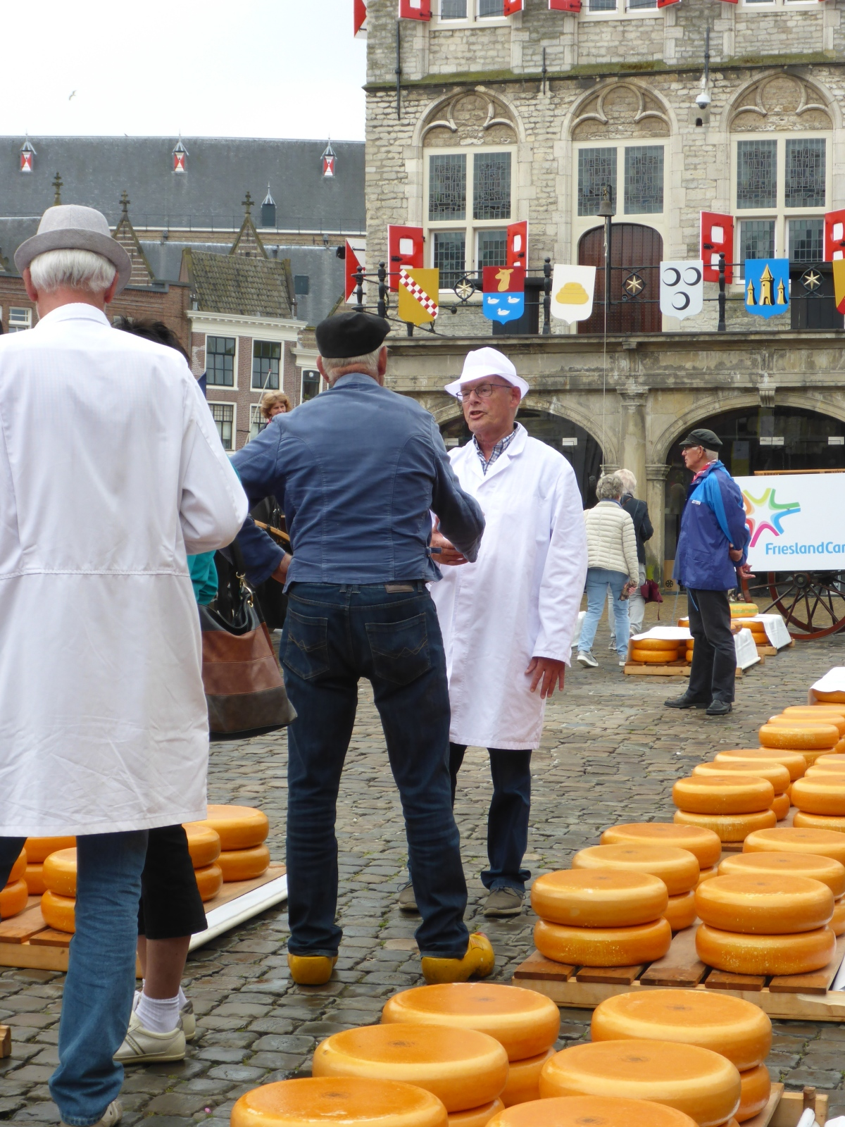 The Cheese Buyer (white) with the Cheese Farmer (Wood Shoes)