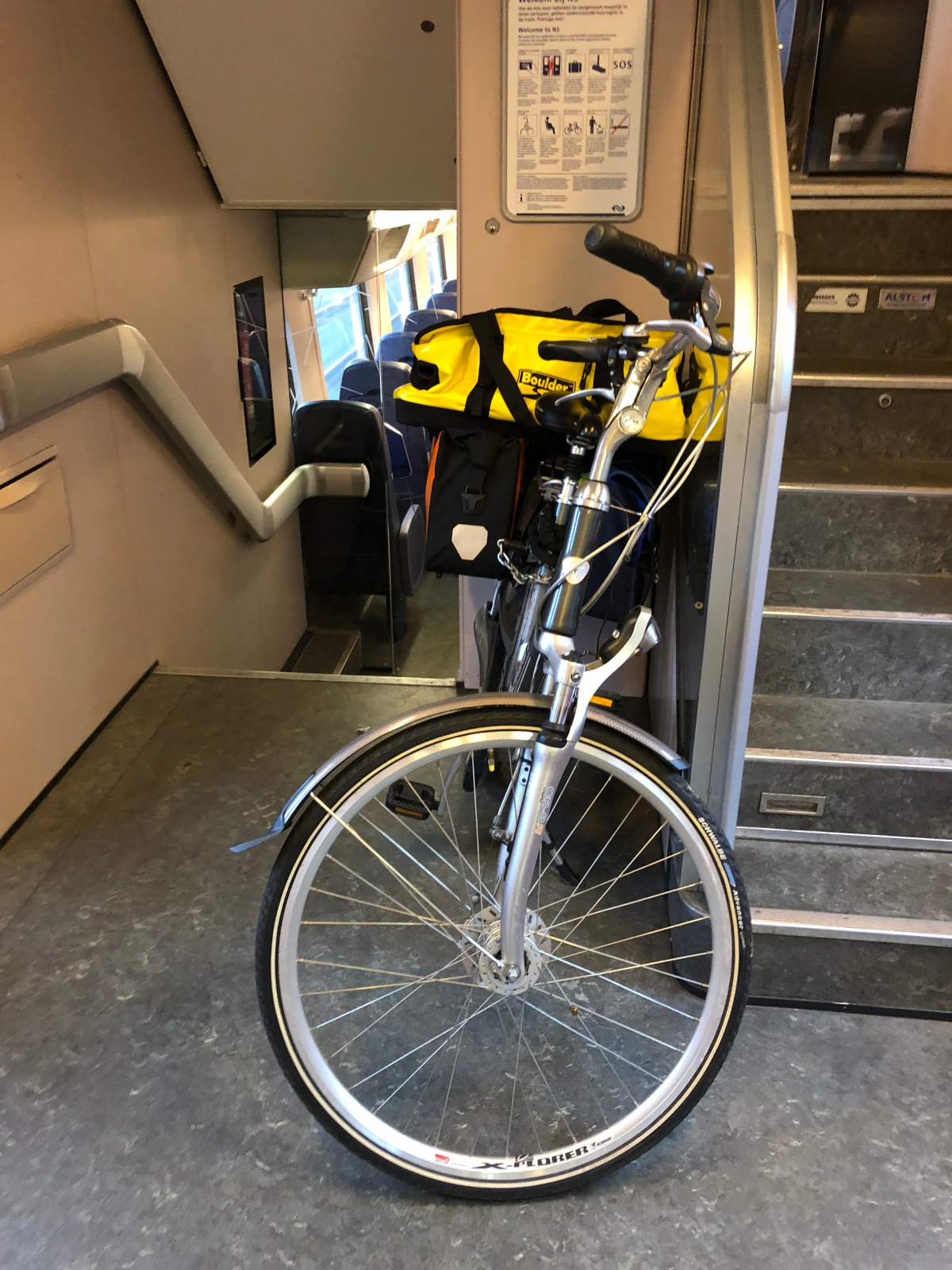 My bike riding in the train
