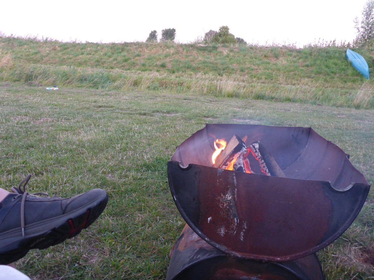 Enjoying the fire pit after dinner