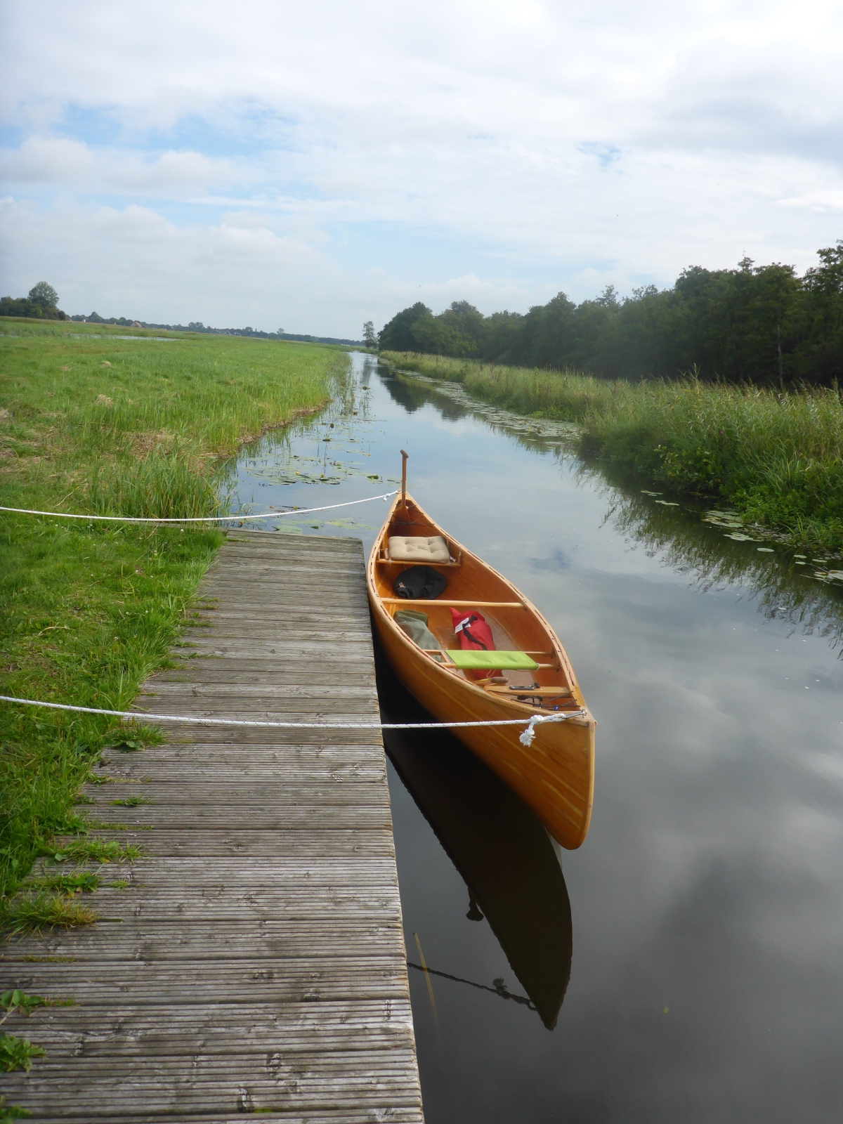 Part of our 10 km paddle through the Weerribben