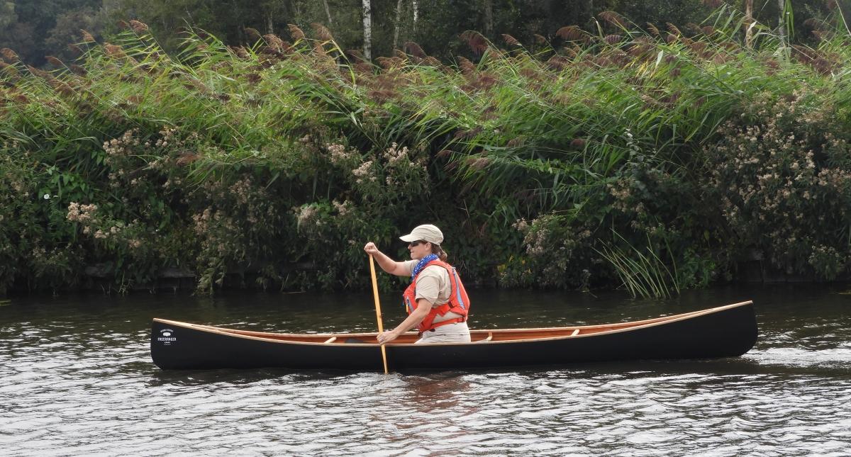 Paddling at the Open Canoe Fest - FreeRanger solo