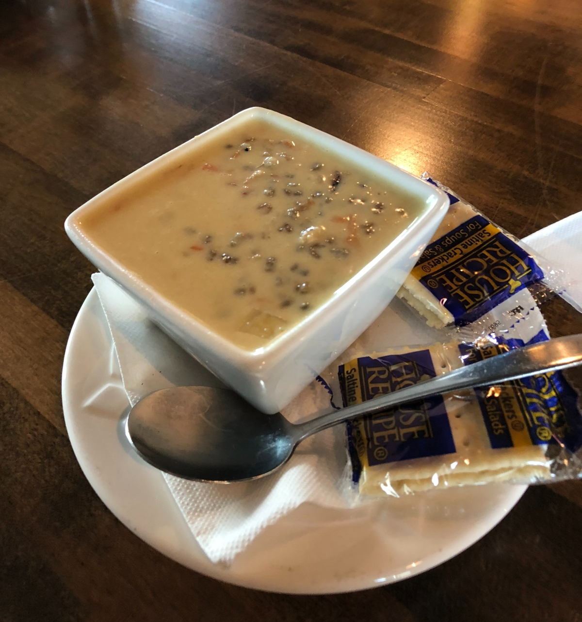 Wild Rice Soup at Streetcar in Carlton, MN