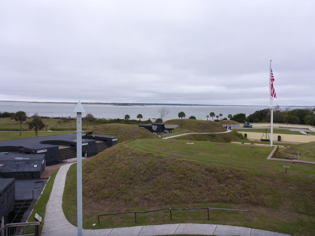 The view from the fort outlook tower towards the ship channel.