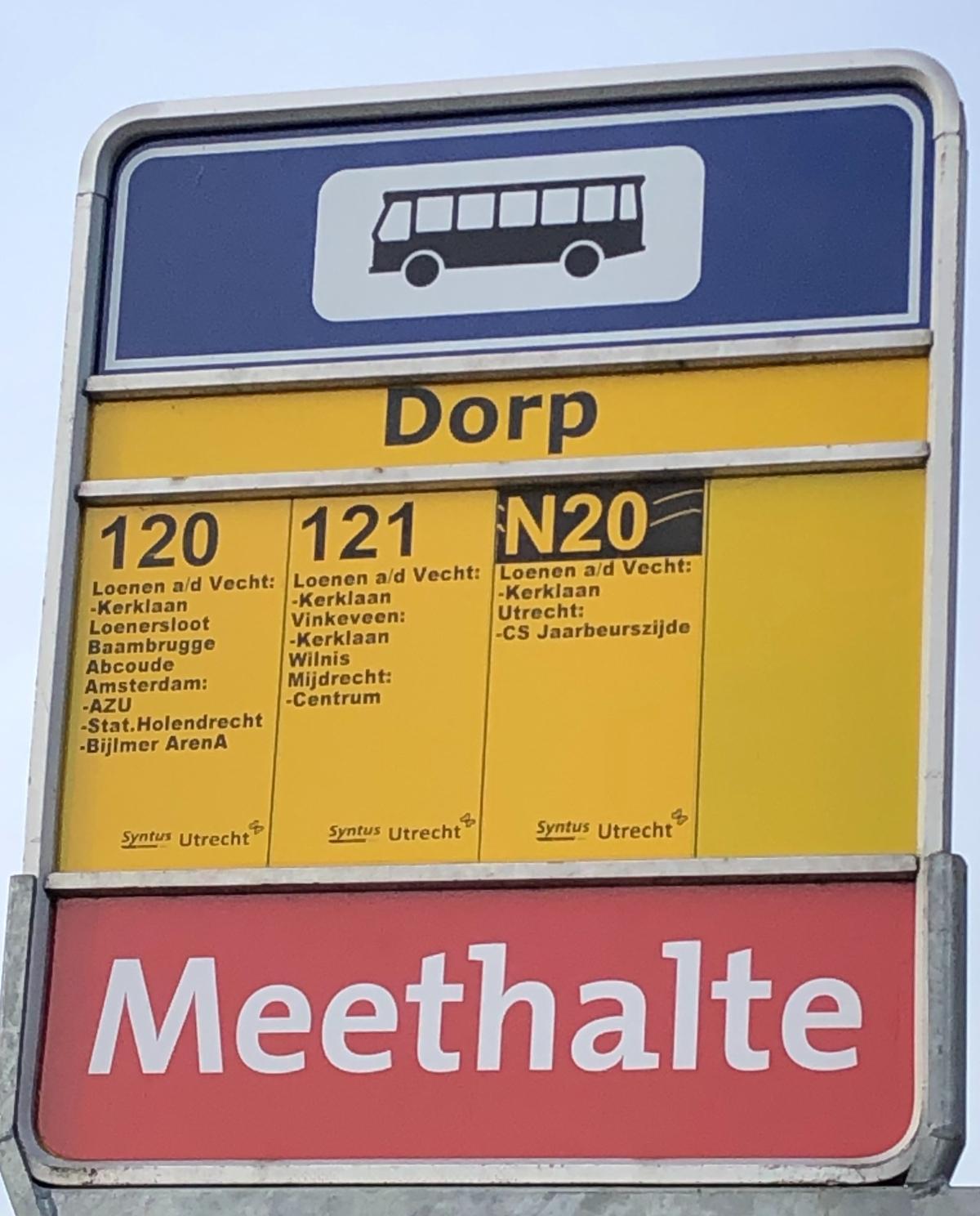 Bus Stop in Loenen aan de Vecht