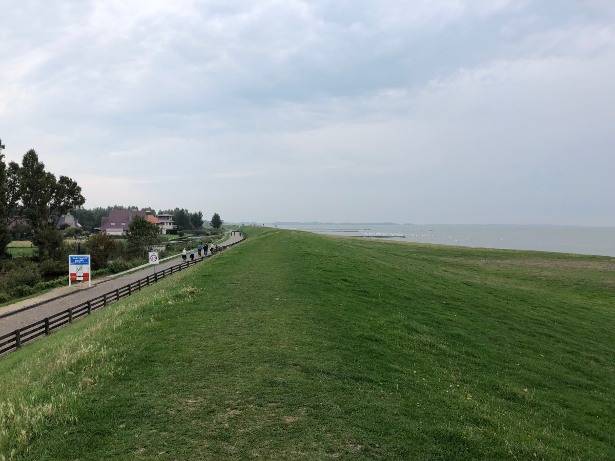 Hindeloopen dike over looking the IJsselmeer