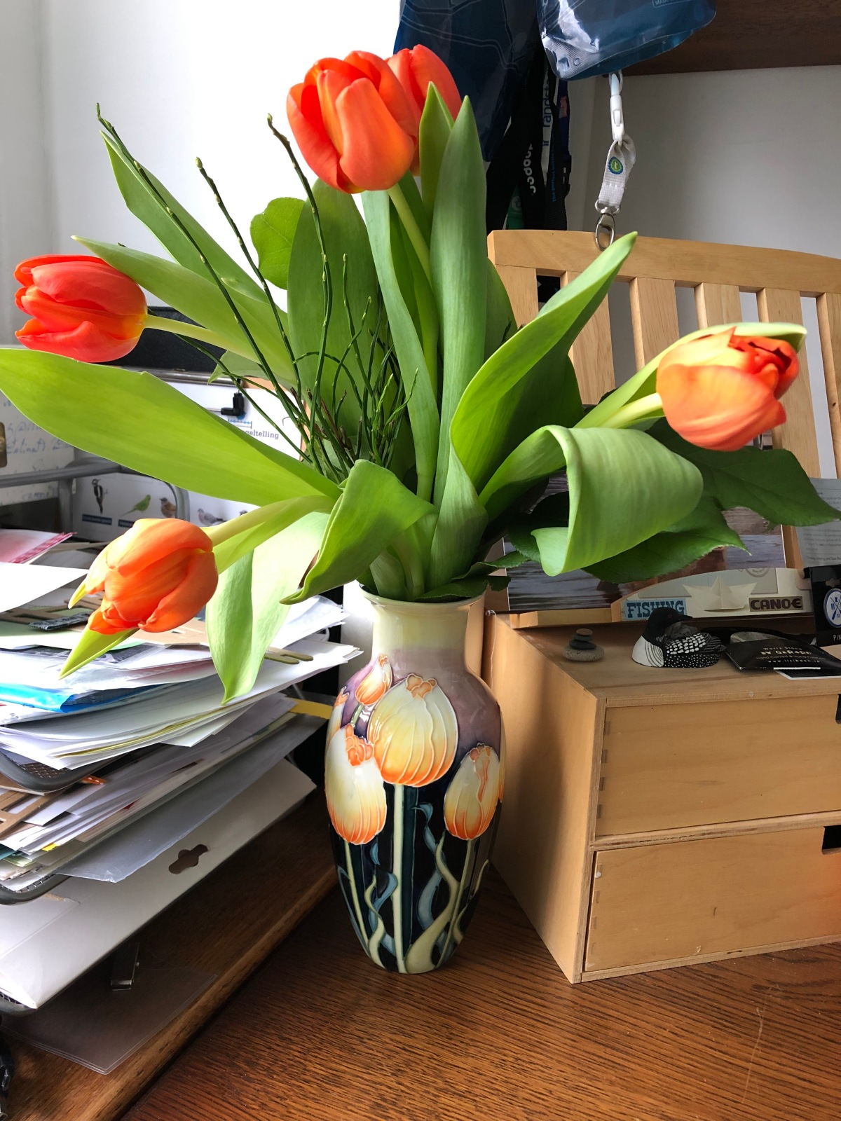 Tulips in The Cedar Journal Office