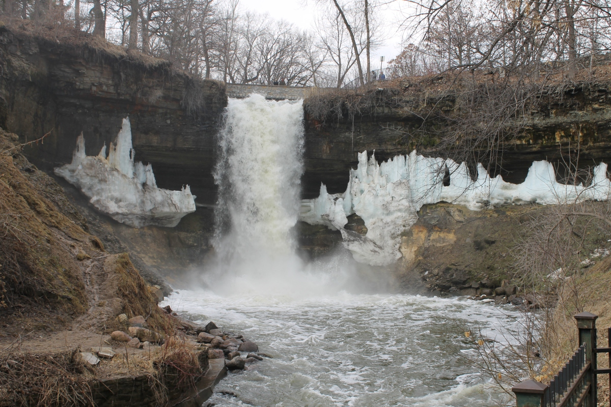 Minnehaha Falls at flood stage