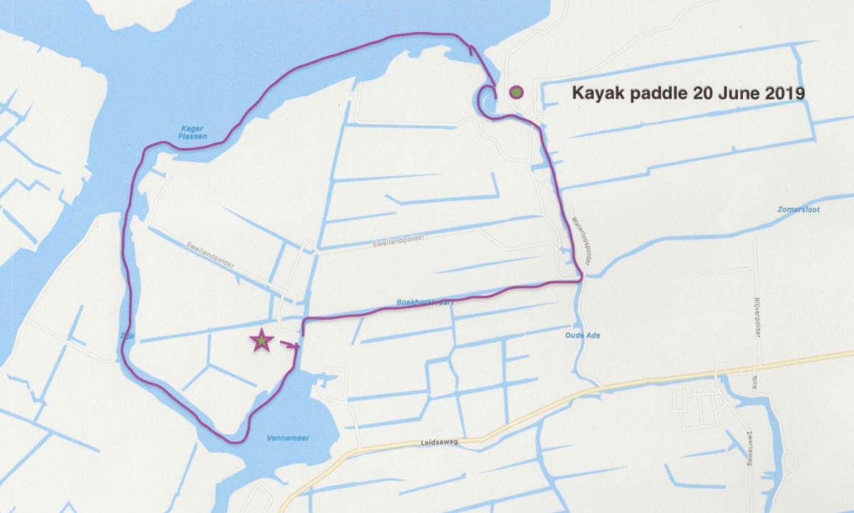 Route for kayak.