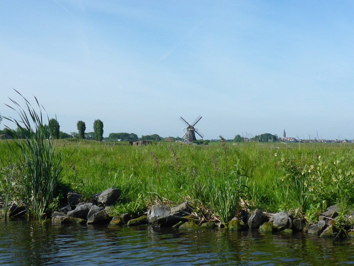 Windmill and the Oude Ade Church