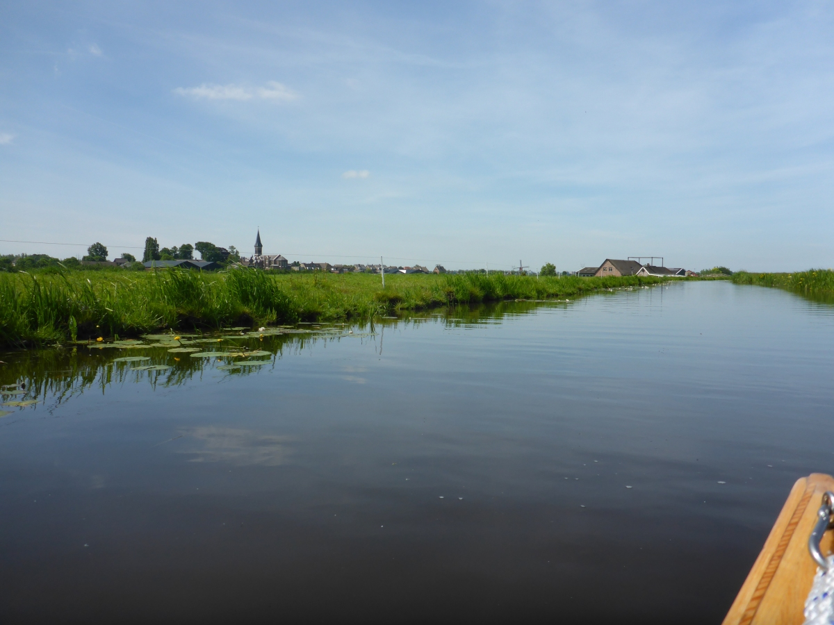 Zomersloot Canal - Oud Ade Church on left.