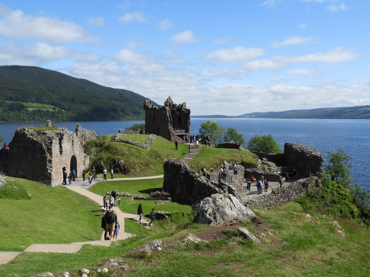 Urquhart Castle with small drone