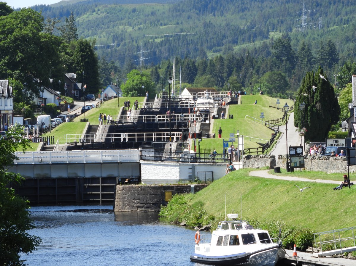 Series of five locks at Fort Augustus