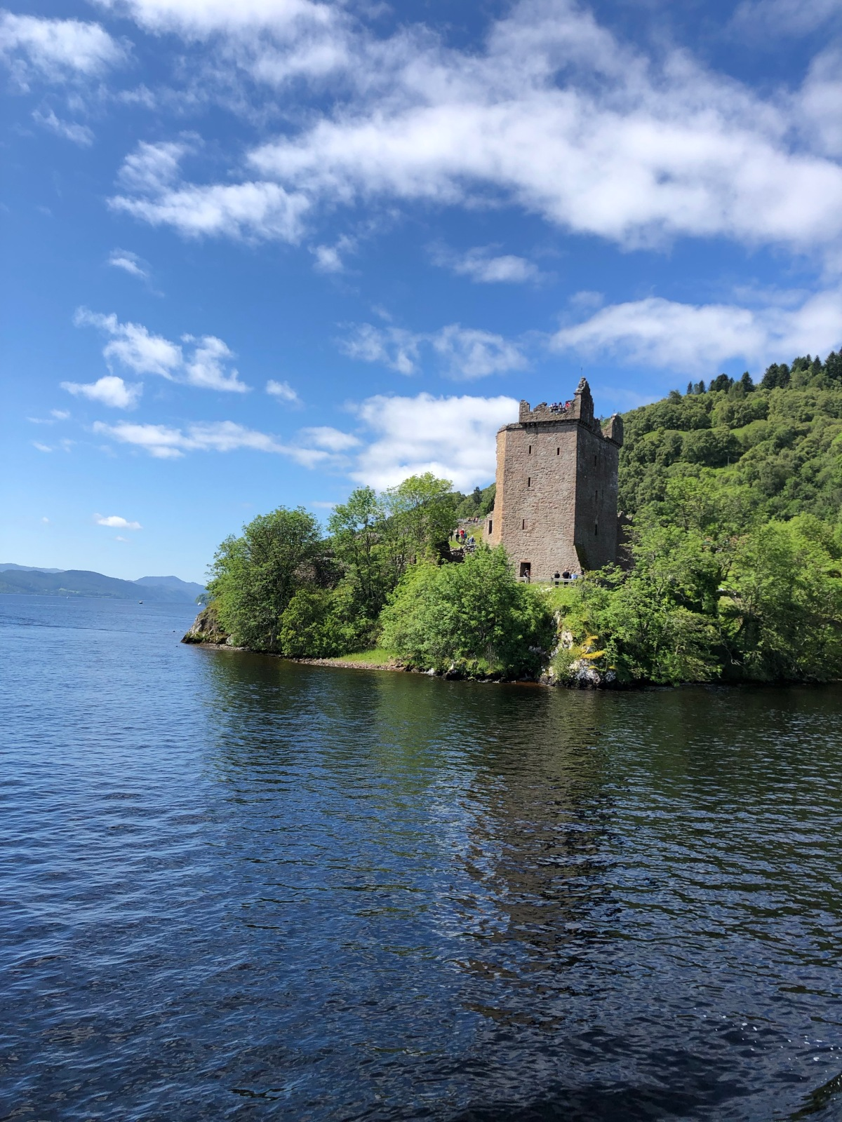 Urquhart Castle from the Cruise boat heading back to Inverness