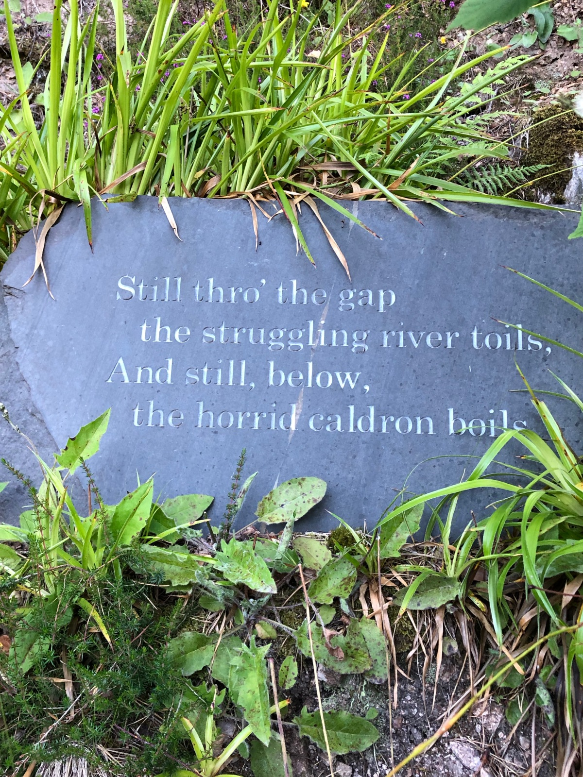 Falls of Foyers, Words of poet Robert Burns