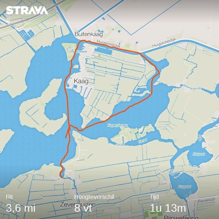 Route map provided by new Strava app