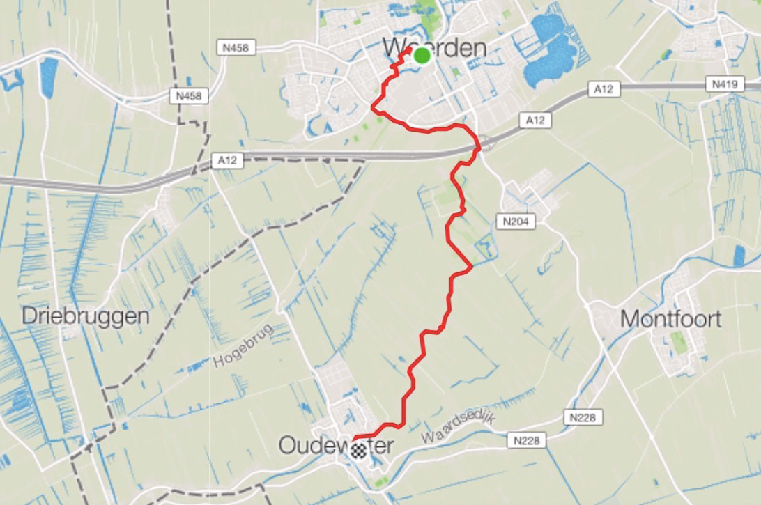 My Floris V Pad route from Woerden to Oudewater