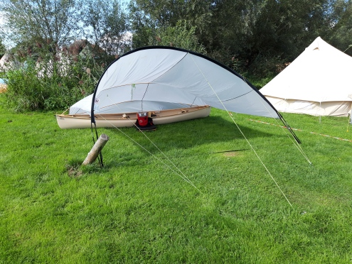 Colman made canoe shelter