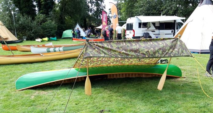 Rain poncho canoe shelter