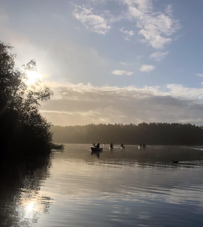 Canoe Paddlers early morning