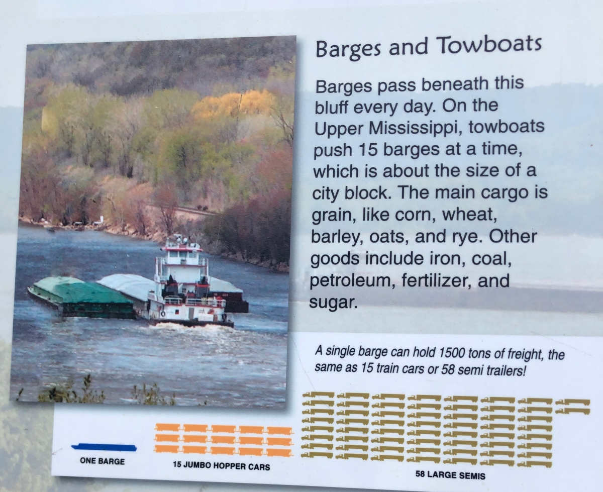 Barges and towboats on the Mississippi River