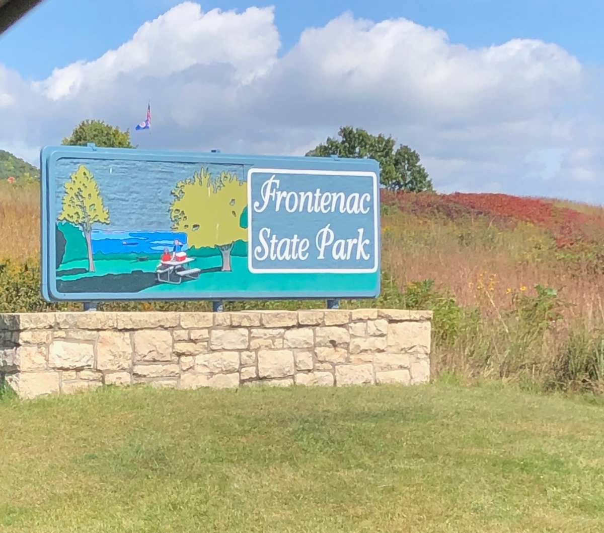 The inviting sign at Frontenac State Park