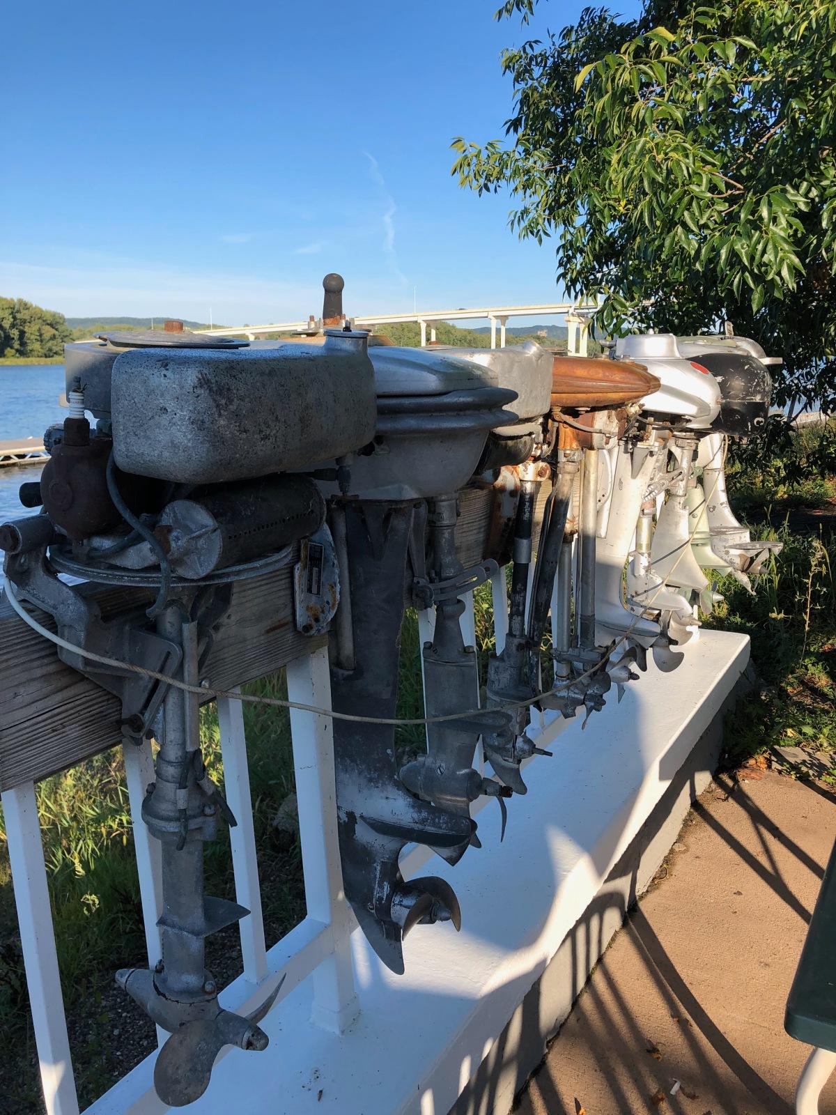 A true Minnesota piece of artwork- outboard motors