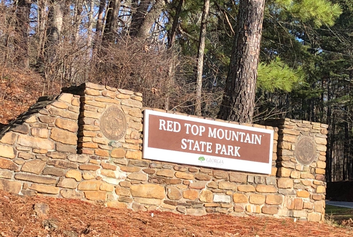 Sign at the Park entrance