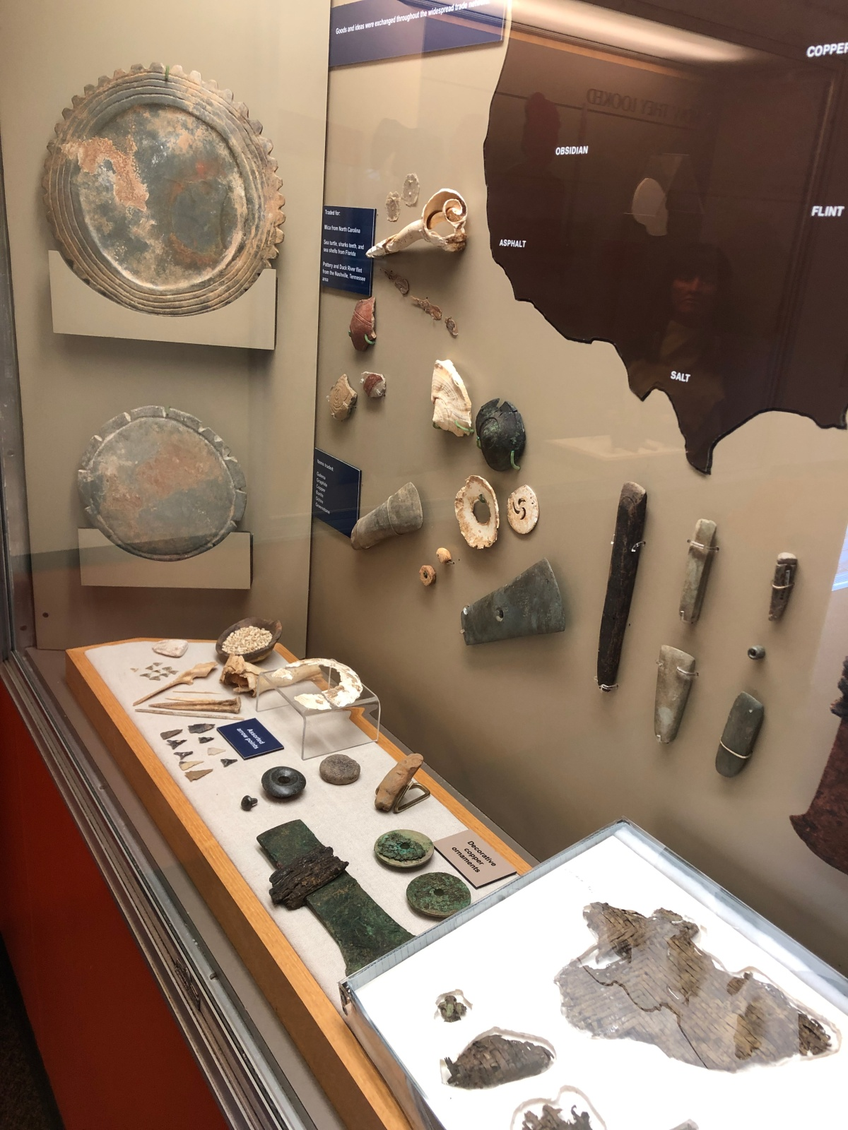 One of the several displays inside the museum