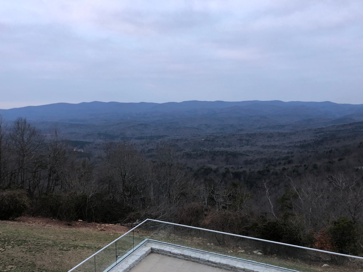 View of the Georgia hills from the lodge deck.
