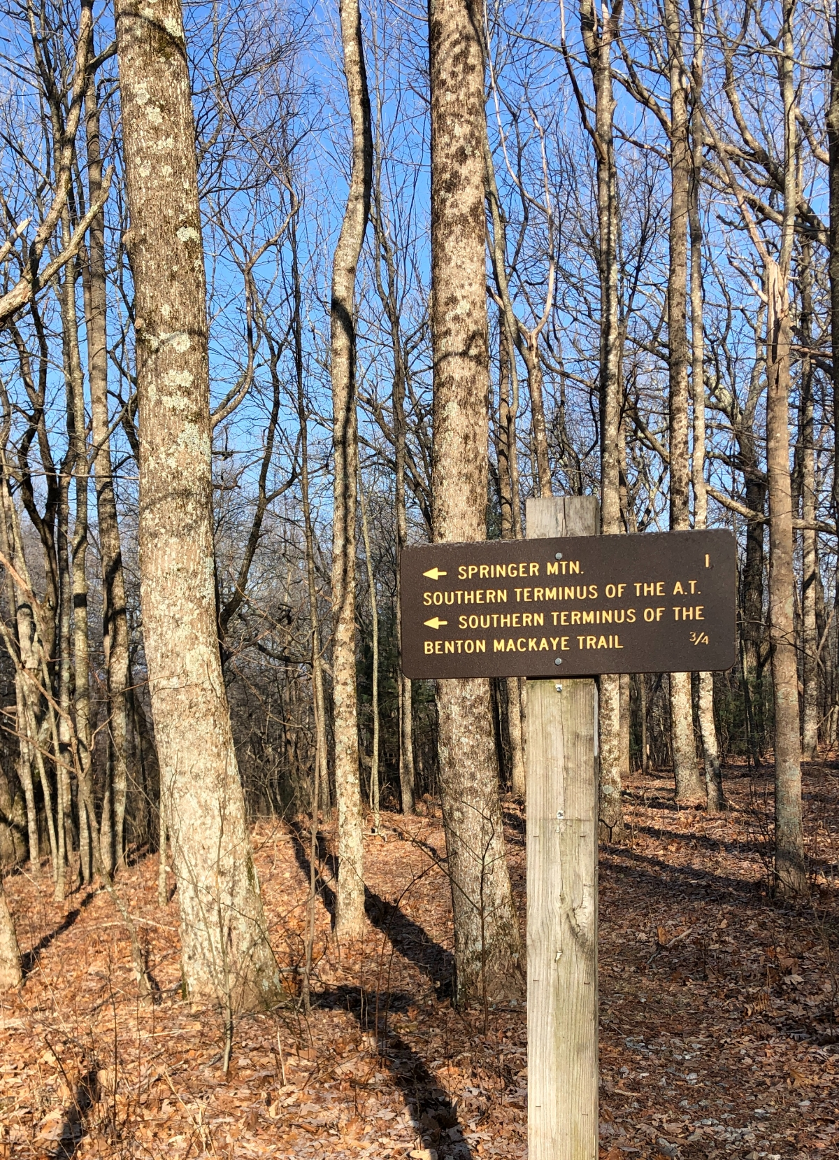 The AT trail marker