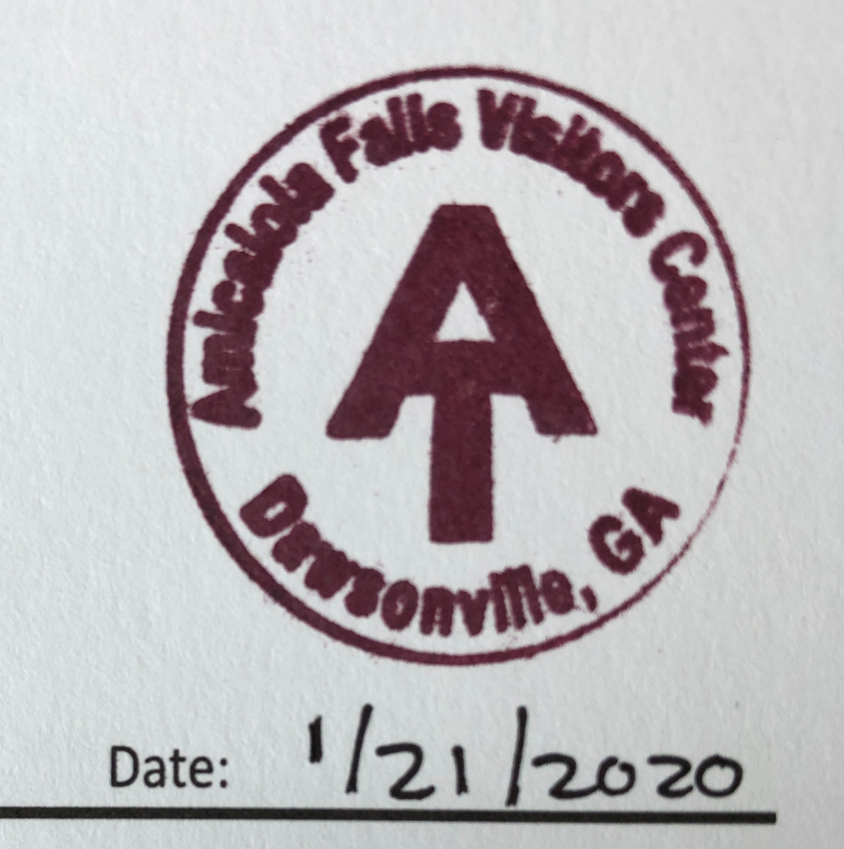 My AT trail passport stamp