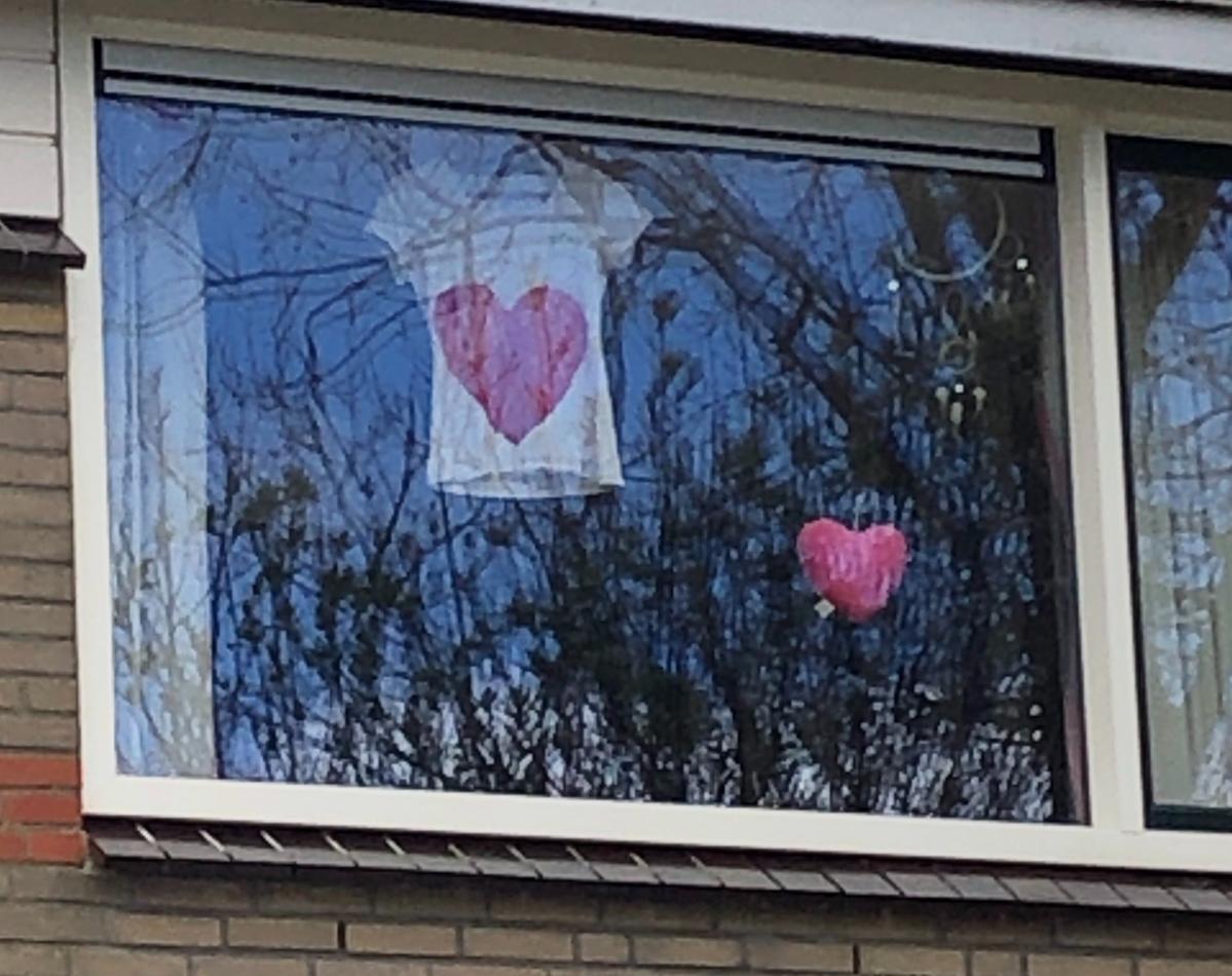 The teenager next door showing her love.